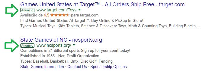 Anúncios pagos - Google Adwords