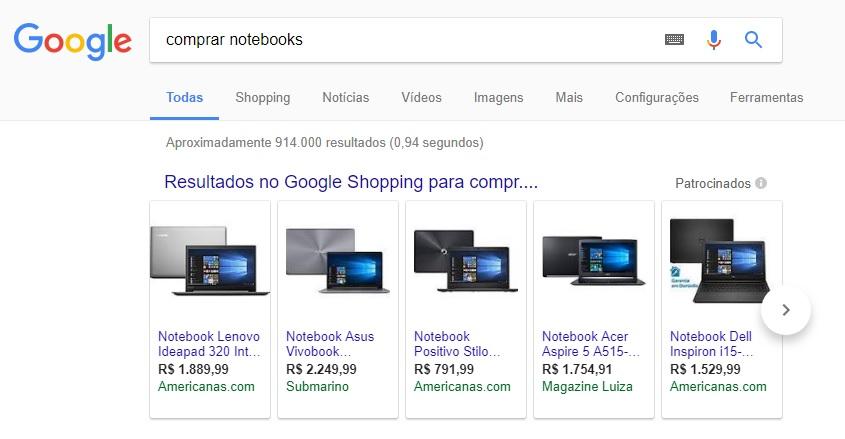 google adwords publicidade shopping