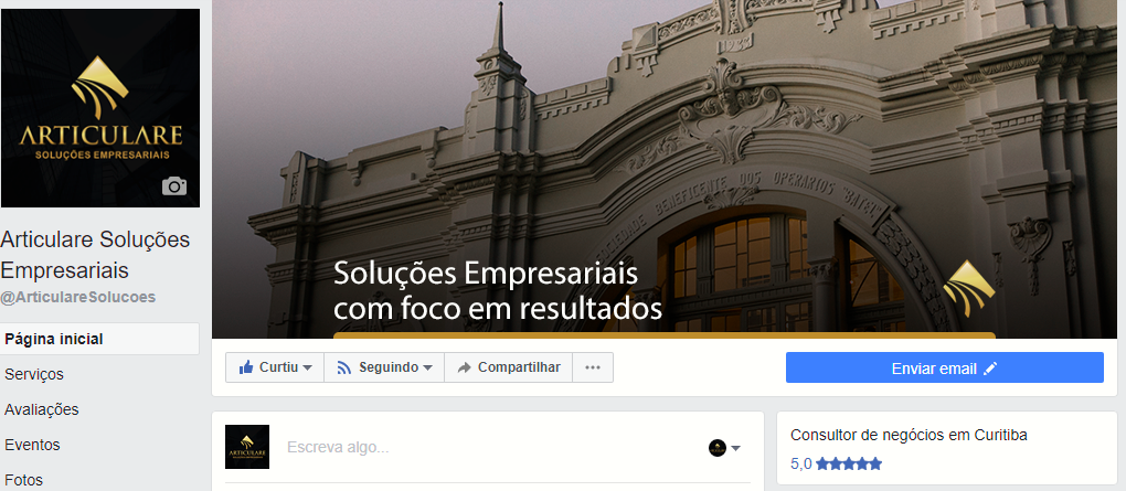 Site Facebook ARTICULARE ENVOX Marketing Digital