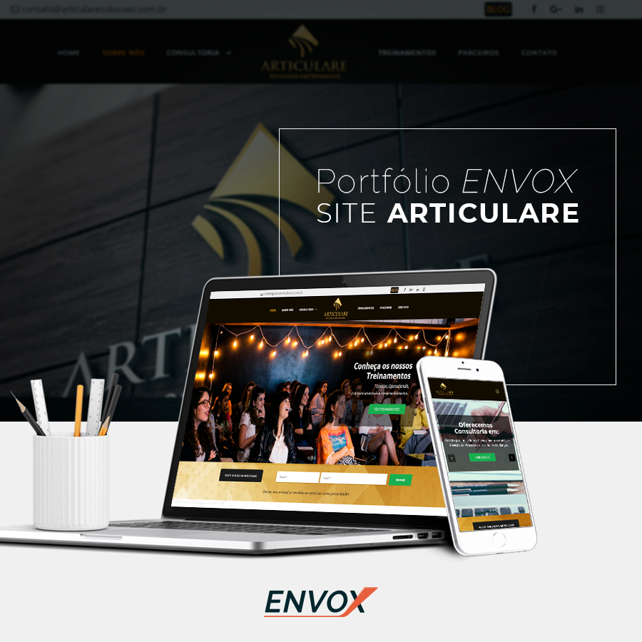 Site ARTICULARE ENVOX Marketing Digital