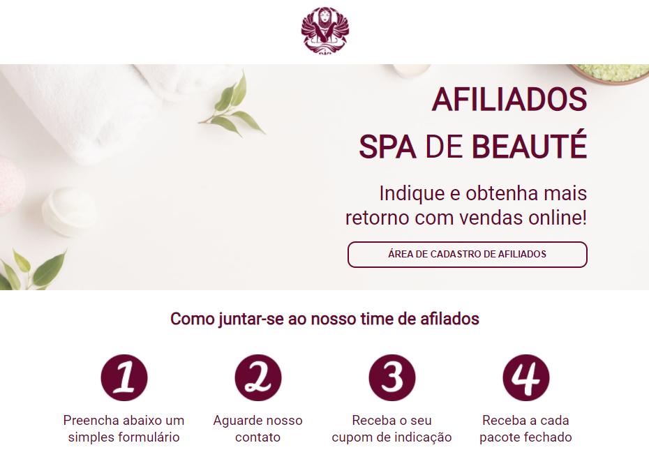 Programa de afiliados do Spa de Beauté